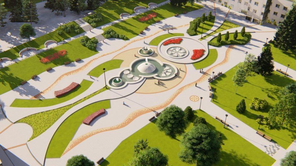 Projekat obnove trga sa fontanama u Niškoj Banji; Foto: GO Niška Banja