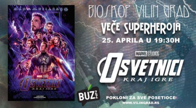 Veče Superheroja Osvetnici Bioskopo Cineplexx