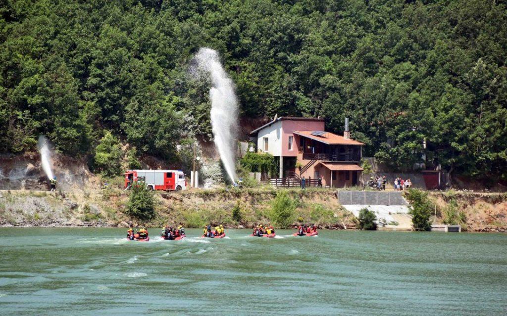 Međunarodna vežba upravljanja posledicama vanrednih situacija , Bovan; Foto: MUP
