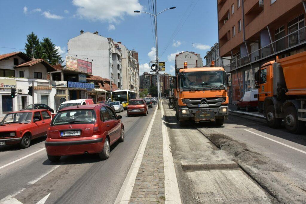 Preusmeren saobraćaj u Ulici 7. juli; Foto: Grad Niš