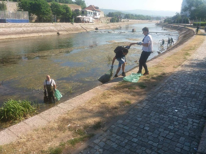 Očišćeno korito Nišave u centru; Foto: JKP Mediana Niš