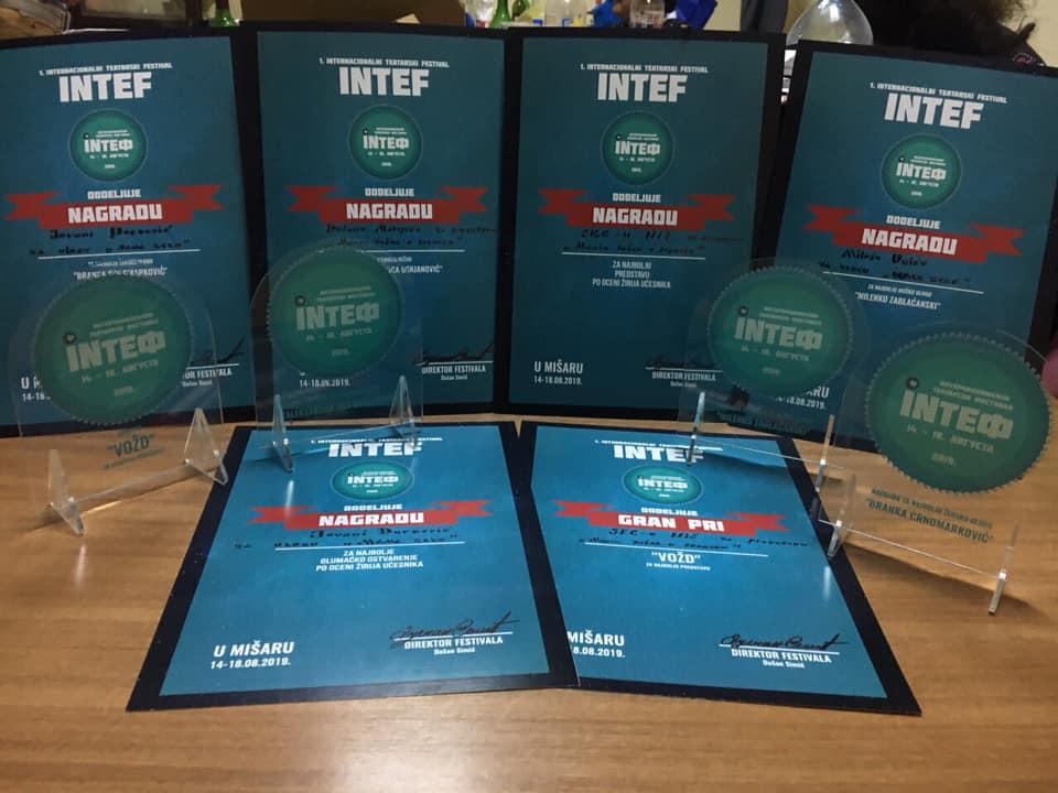 Predstava niškog Akademskog pozorišta pobednik INTEF festivala