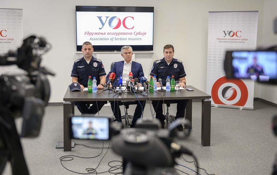Konferencija za novinare Udruženja osiguravača Srbije; Foto: MUP Srbije