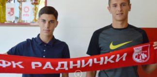 Ulaganje u budućnost: FK Radnički potpisao stipendijske ugovore sa dvojicom kadeta
