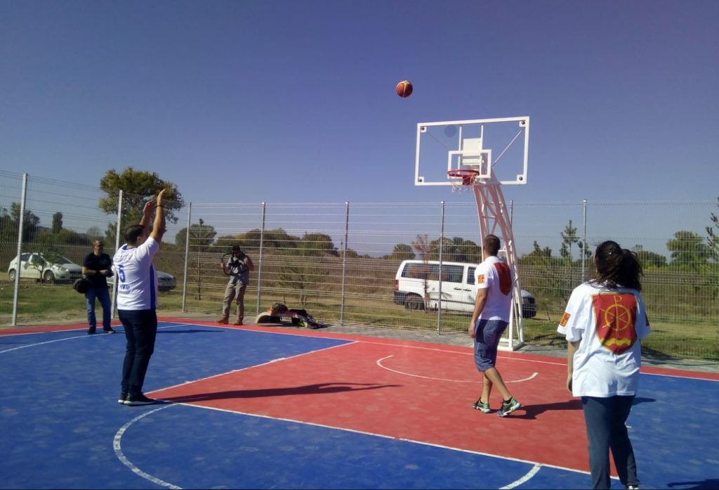 Mini teren za basket u Naselju Brzi Brod, Niš; Foto: GO Medijana
