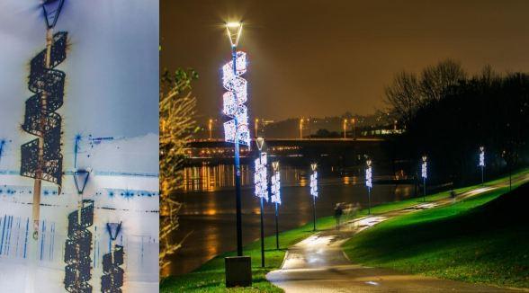 """Primer novogodišnje dekoracije koju je preko javne nabavke potraživalo JKP """"Parking servis"""" Niš"""