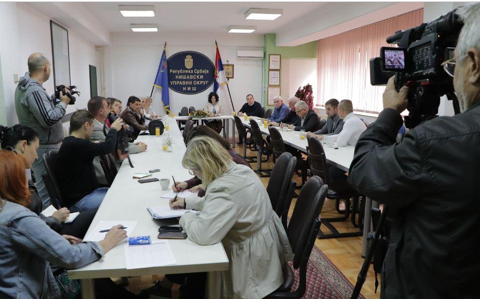 Sastanak o rešavanju problema javnog prevoza u Nišvskom okrugu, Foto. Nišavski upravni okrug