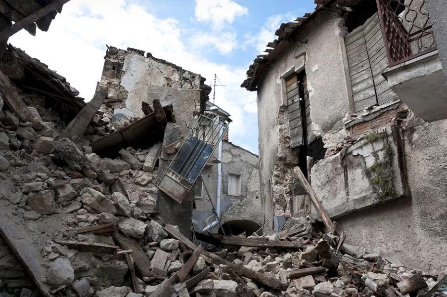 Posledice zemljotresa, ilustracija