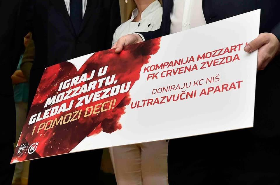 Donacija KC Niš; Foto: FK Crvena zvezda