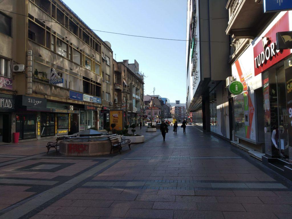 Puste ulice Grada Niša za vreme vanredne situacije