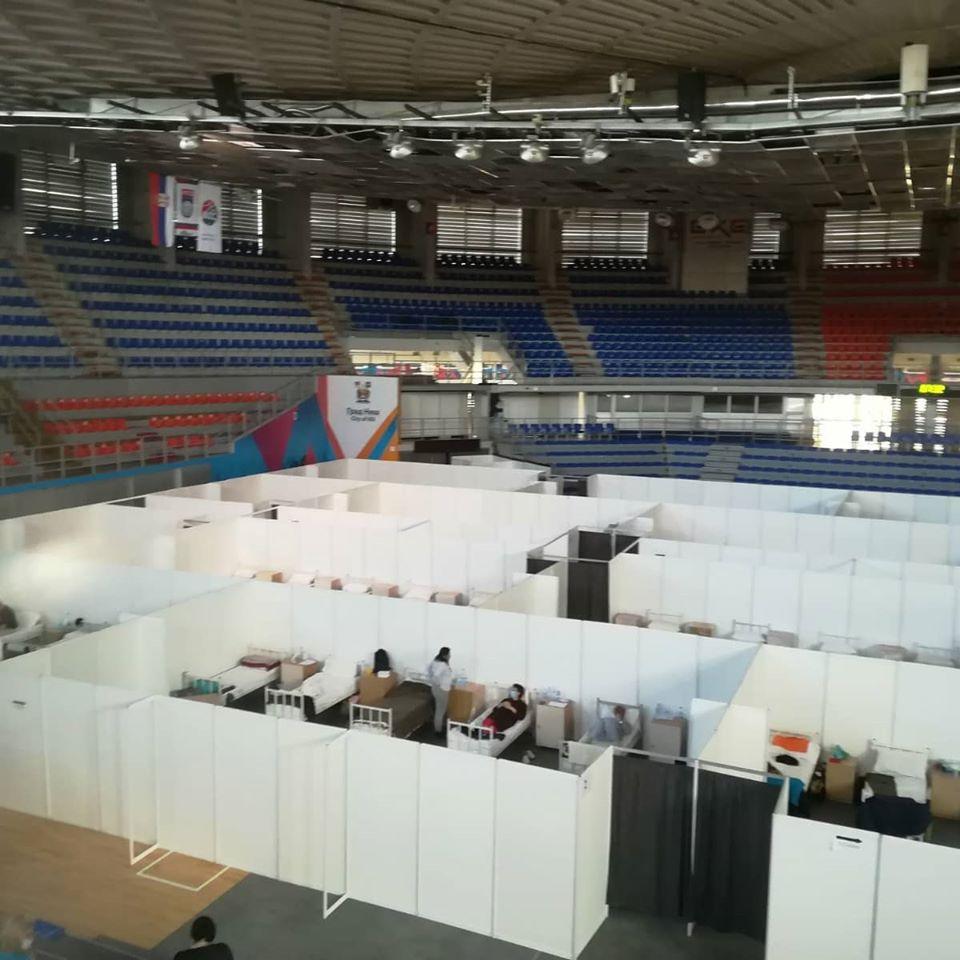 Objekti Studentskog centra i Domova učenika u Nišu od danas se pripremaju za privremene bolnice; Foto. Z.R.