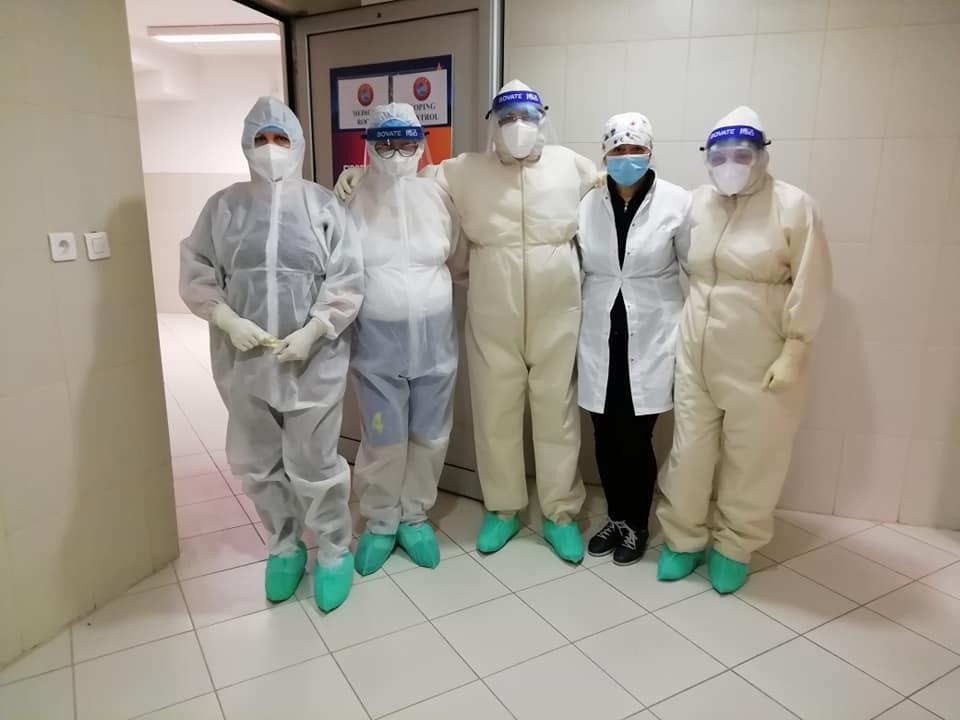 Covid ekipe u privremenoj bolnici Čair; Foto: M.A. SC Čair