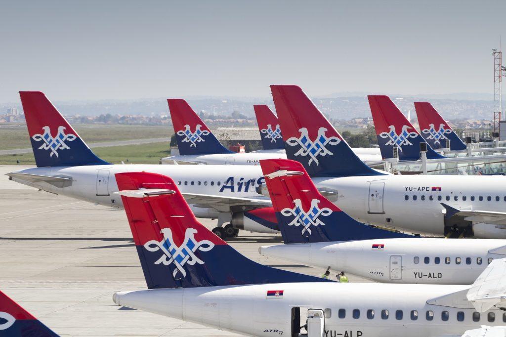 Foto: Air Serbia a320 aircraft plane airbus jet