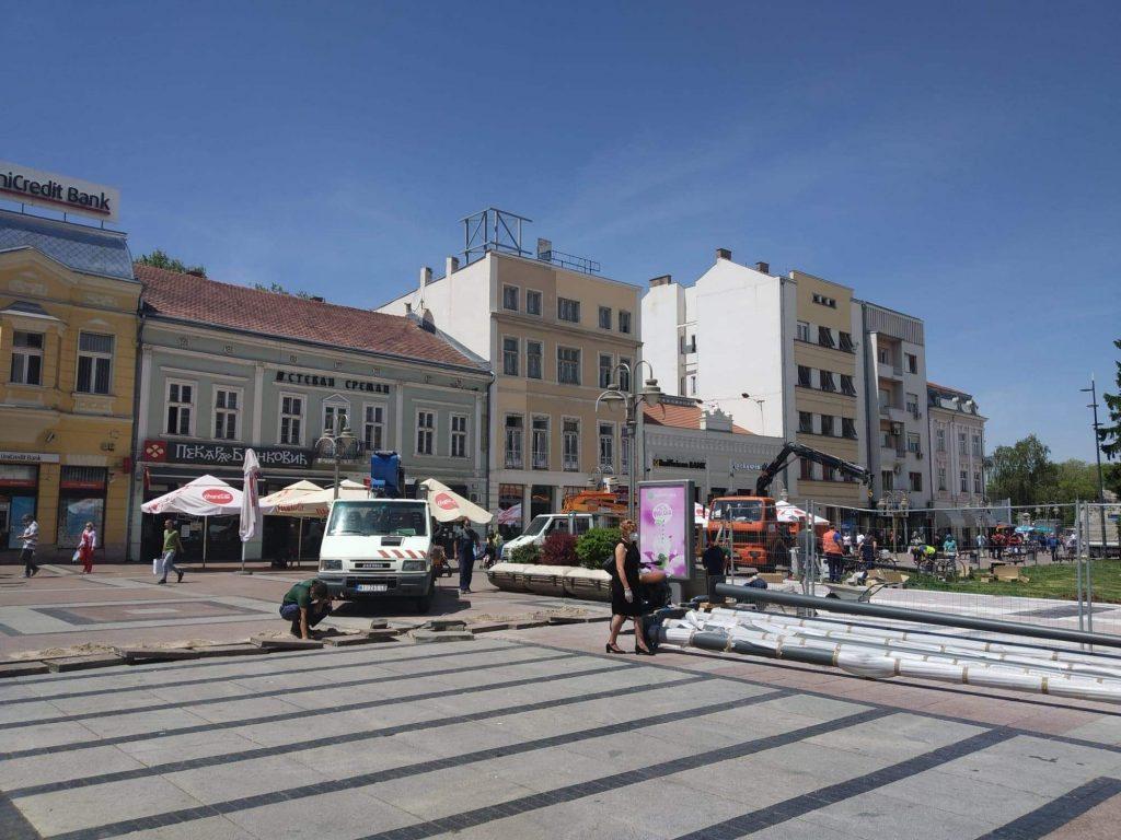 Za desetak dana prva proba nove javne rasvete na gradskom trgu