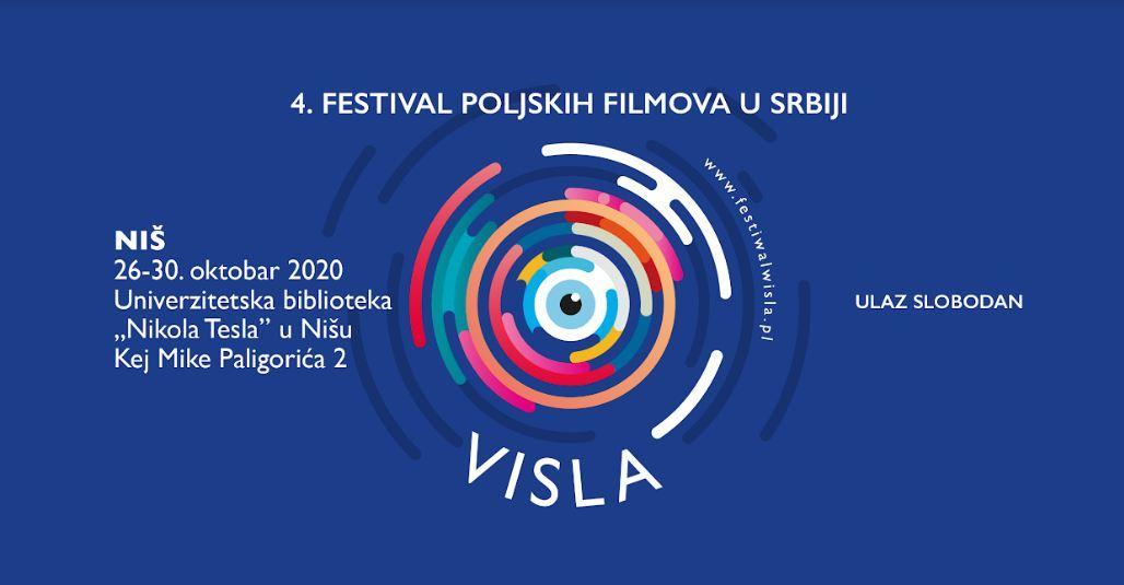 """Četvrti međunarodni festival poljskih filmova """"Visla"""" u Nišu biće održan od 26. do 30. oktobra u svečanoj sali Univerzitetske biblioteke """"Nikola Tesla""""."""
